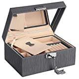 Best Jewelry Boxes - SONGMICS JBC232GY 2 Tier PU Jewellery Box Review