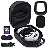 Hard case for Oculus Quest 2 headset & accessories, Compatible with all Elite Straps - Official / Third-party versions, Protective storage bag for gaming devices Fits SARLAR housing dimensions