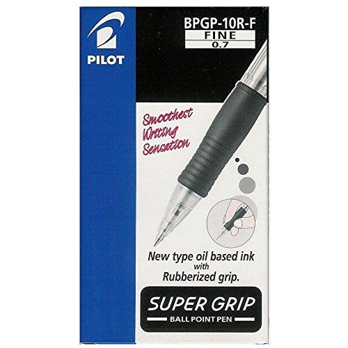 Pilot BPGP-10R-F Supergrip blu Penna a sfera a scatto da 0.7 mm (confezione da 12)