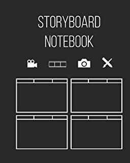 """Storyboard Notebook 8"""" X 10"""" 258 Pages: For Filmmakers, Animators, Cinematographers, Youtubers, and Creative Professionals"""