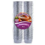 DOBI Ramekins [100 Pack - 4 oz.] - Disposable Aluminum Foil Ramekins, Standard Size