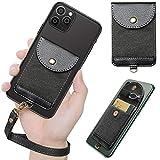 Phone Wallet with Strap, Doormoon Credit Card Cash Holder...