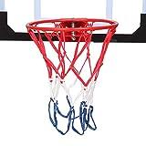 NewBaiGo Clear Basketball Backboard, Wall Mounted Basketball Rim Set w/Basketball & Pump- Basketball Hoop for Adults & Kids Indoor Outdoor Use