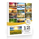 12 x Landscape Folding Greeting Cards with Envelopes. Blank Inside for All Occasions