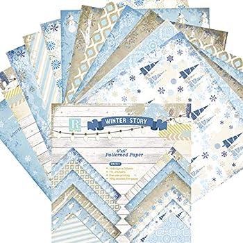 Papel estampado patrón 24 Hojas de Paper Pack Scrapbooking Estampado Flores Románticas Vintage para DIY Paper Decorativa Manualidades 15x15cm: Amazon.es: Oficina y papelería