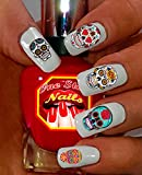 Sugar Skull Nail Art Decals (Tattoo). Set of 63 Clear waterslide nail art decals. Dia de los Muertos. SS001-63 by One Stop Nails