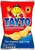 24 x 25g packs of Tayto Cheese and Onion Flavor Crisps. Imported from Ireland. The Original Irish Crisp. Made with 100% sunflower oil. Guaranteed Irish - Made in Republic of Ireland.