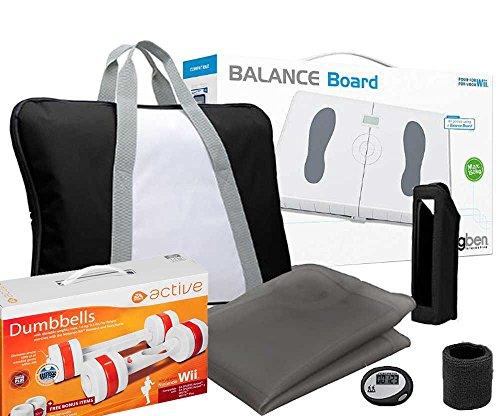 Wii - BigBen Balance Board mit EA Active Hanteln [Nintendo Wii] und einem Trainingspack