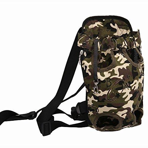 Hunde-Rucksack, verstellbar, gepolsterter Schultergurt, Sicherheitsgurt für Hunde