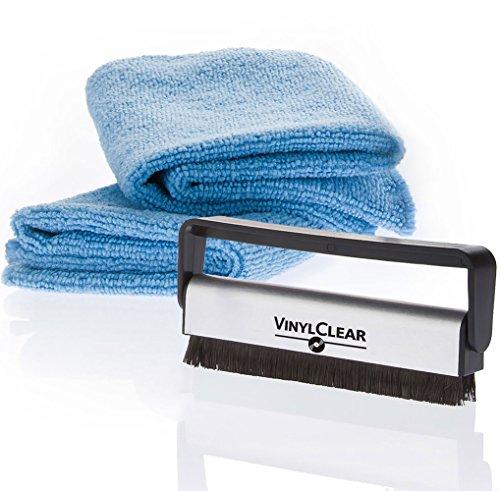 Vinyl Clear spazzola in fibra di carbonio con due panni antistatici