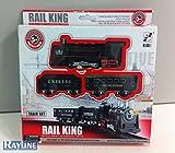 RAYLINE Eisenbahn Set, Zug Set (Batterie), Rail King Licht Sound, Spielzeugeisenbahn