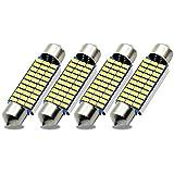 Kashine C5W LED 41mm Canbus 30SMD 3014 211-2 578 3W Bombilla LED Luz Interior de Coche Festoon Lámpara Xenón Blanco 6000K 12V (4 Piezas)