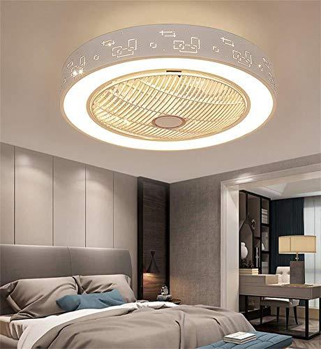 XFXDBT Luz de decoración de habitación para niñas Ventilador De Techo Moderno, Luz para Dormitorio, Comedor, Hogar, Ventilador Invisible, Luz, Lámpara Nórdica con Ventilador(Color:mi)