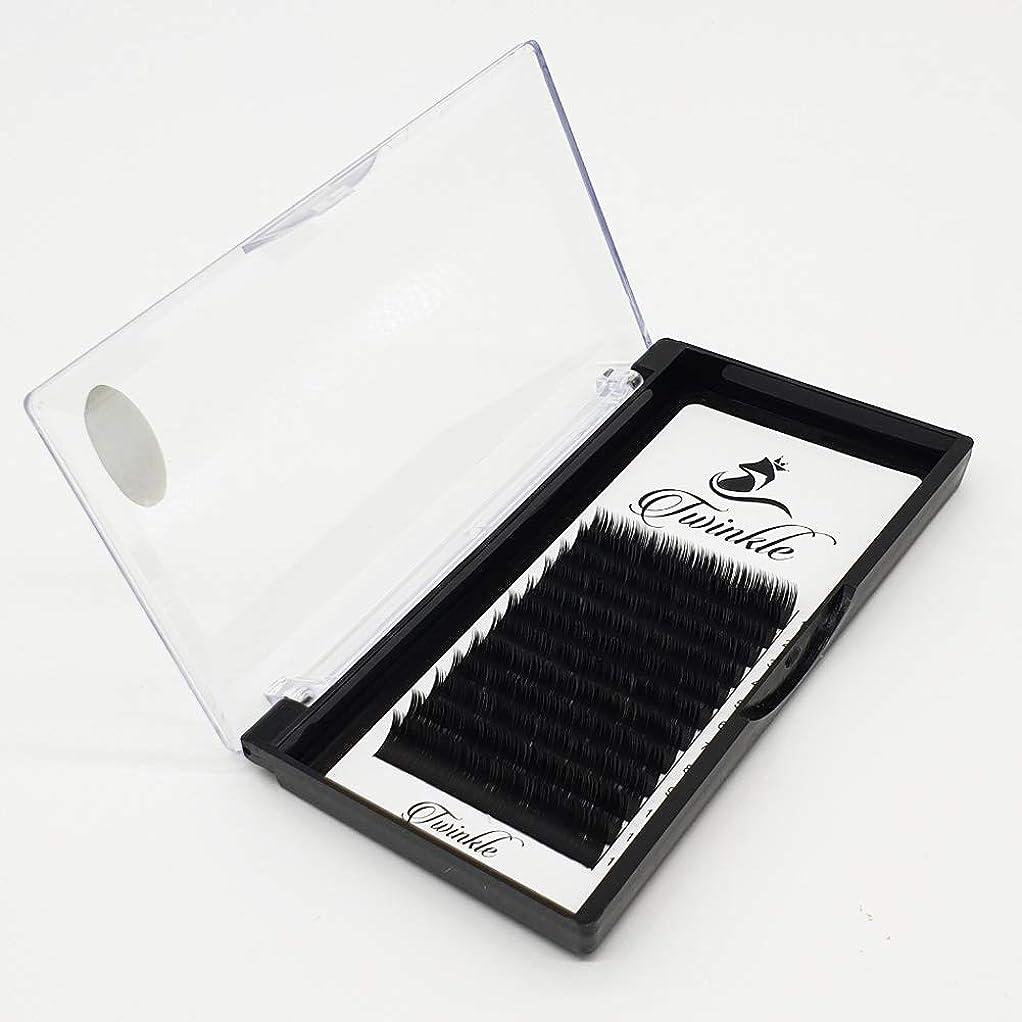 蜜天国謝るTwinkle Twinedge black まつげエクステ マツエク フラットまつげ Jカール 太さ 0.20mm [海外直送品] (11mm)