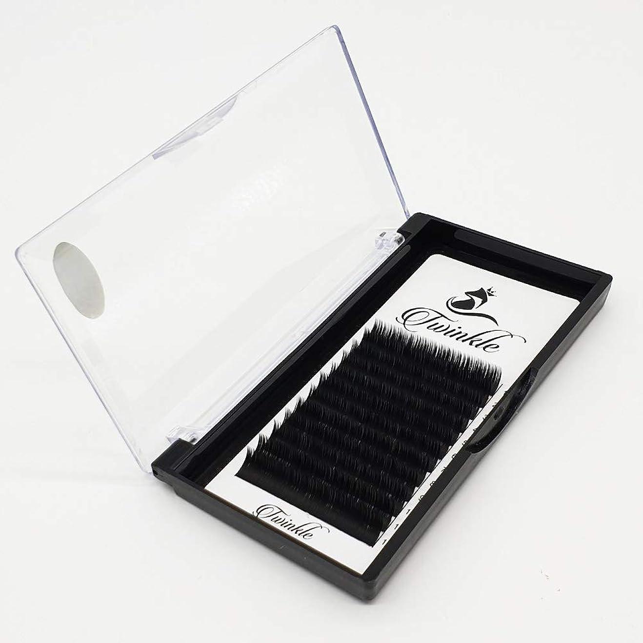 置換グラムこれまでTwinkle Twinedge black まつげエクステ マツエク フラットまつげ Bカール 太さ 0.20mm [海外直送品] (9mm)