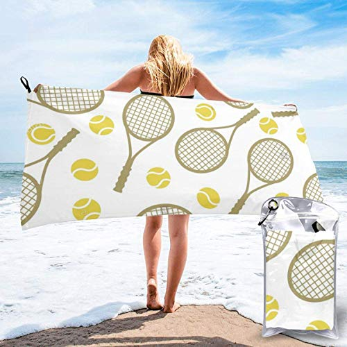 Toalla de Playa para Mujer, Toalla de Microfibra para Piscina para Parrillas, Raquetas de Tenis, Pelotas, al Aire Libre, Viajes, Toallas de Secado rápido