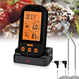 Aveloki Digital Meat Thermometer,Wireless Meat Thermometer for Grilling with Dual Probe Food Cooking...