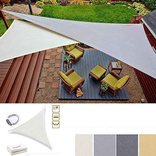 JHFSW Dreieck-Markise/Sonnensegel/Schatten Netto-3x3x3M Außen Regen und UV-Markise for Garten, Hof, Pool Schutz der Privatsphäre Schwimmen, Beschattung (Color : Beige)