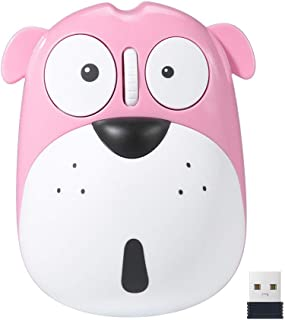 Lovely Dog Rechargeable Wireless Mouse 1200 DPI Noiseless Kids Computer Mouse For MAC/Laptop