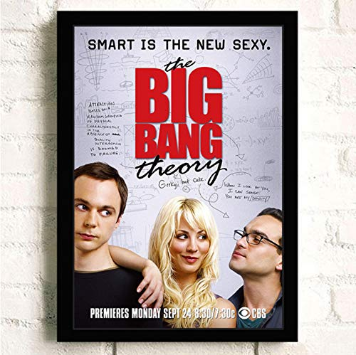 PCCASEWIND Frameless Painting 50X70Cm, The Big Bang Theory Movie Wall Artist Home Decoration Canvas Painting Nordic Hotel Bar Cafe Living Room Poster,Pc-1214
