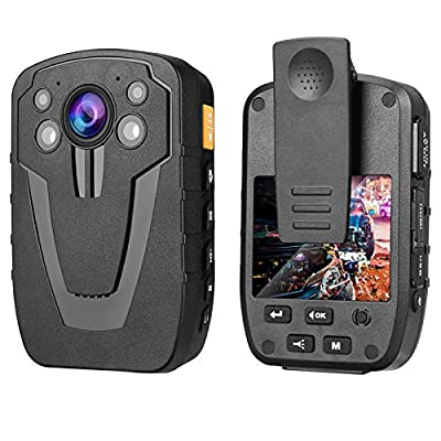 1440P Law Enforcement Recorder, 64G Police Body Camera with Audio/Infrared Night Vision/140° Wide Angle, 2800 mAh 8HR Battery Life Body Mounted Camera for Car, Bike,Hiking, File Protection from Vogvigo