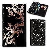 Strass Book Style Flip Handy Tasche Hülle Schutz Hülle Foto Schale Motiv Etui für Alcatel OneTouch Idol 3 - 4,7 Zoll - Flip SU5 Design7