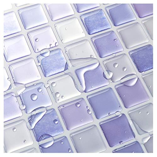 Yoillione Adhesivo decorativo para azulejos de cocina, azulejos de baño, diseño de mosaico 3D impermeable, para cocina, azulejos de azulejos adhesivos de pared