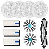 DingGreat Kit di accessori per aspirapolvere robot BISSELL 3115 SpinWave SpinWave per pavimenti duri e asciutti - 1 spazzola principale, 3 filtri, 4 spazzole laterali, 4 tamponi per mocio