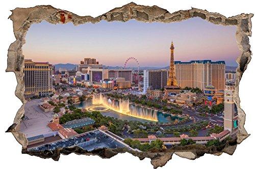 Las Vegas Skyline Nevada USA Wandtattoo Wandsticker Wandaufkleber D1034 Größe 70 cm x 110 cm