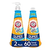 Arm & Hammer Plus Oxiclean Super Concentrated 60 Loads Liquid Laundry Detergent, Fresh, 15.27 Fl Oz (Pack of 2)