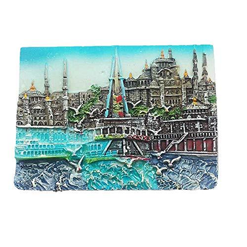 Jian Ai Istanbul Türkei berühmten Tourist Souvenir, Kunstharz Kühlschrank Magnet Creative Home Kitchen Dekoration Geschenk