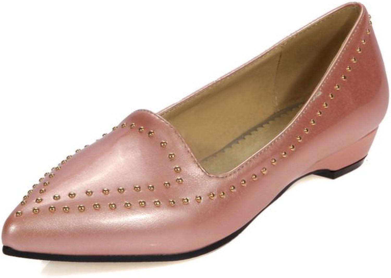 AdeeSu Womens No-Closure Solid Urethane Slip-Resistant Urethane Loafers shoes SDC03654