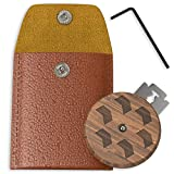 Groosha Bread Lame Slashing Tool – Dough Handcrafted Wood scoring knife – Bread Lame kit With 5 Razor Blades – Includes Allen Key – Compact Leather Storage Case – Beautiful Design – Easy to Use