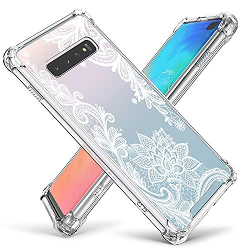 Cutebe Case for Galaxy S10 Plus,Shockproof Series Hard PC+ TPU Bumper...