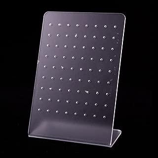 Hosaire 1x Transparent Kunststoff Ohrstecker Schmuckständer Ständer Kreative 72 Loch Acryl Ohrschmuck Ohrringe Stand