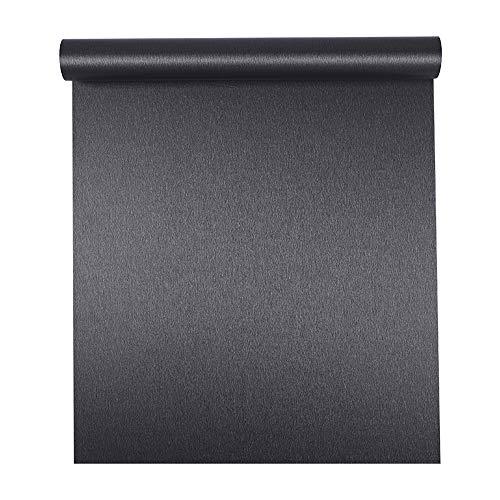 Taogift Selbstklebend gebürstetes Metall Edelstahl Kontaktpapier Vinylfolie für Geschirrspüler Kühlschrank Herd Arbeitsplatten Küchenschränke Geräte 15.7x117 Inches dunkelgrau