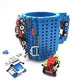VANUODA Build-on Brick Mug, Taza Cafe, Regalos para Hombre Mujer Papá Mamá Amigos Niños Adulto, Originales Regalo Ideal para Navidad Pascua Dia del Padre Cumpleaños, Compatible con Lego