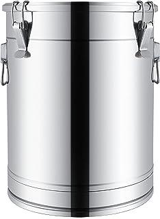 Seau À Soupe/seau Scellé, Seau De Stockage Multifonctionnel Épaissi En Acier Inoxydable 304 Domestique/commercial/seau À L...