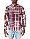 Springfield Camisa Cuadros, Rojo, S para Hombre