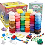 Air Dry Clay Kit - ESANDA 50 Colors DIY Magic Modeling Clay with Sculpting Tools, Great Gift for Kids.
