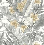 NuWallpaper NU2927 Neutral Paradise Peel & Stick Wallpaper