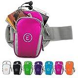 Echelon Line Premium Fitness Armband Handy Hülle Arm Jogging Tasche Rennen Workout Smartphone Laufen Sportarmband Schlüssel Halter für iPhone & Samsung