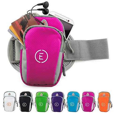 Echelon Line Premium Fitness Armband Handy Hülle Arm Jogging Tasche Rennen Workout Smartphone Laufen Sportarmband Schlüssel Halter für iPhone und Samsung