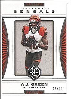 A. J. Green Cincinnati Bengals 2017 Panini Limited Football Card #6