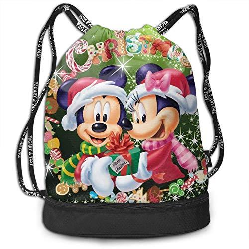 Mic-Key M-Ouse Drstring Bags Multifunction Bundle Backpack Large Caity Portable Handbag Sport Gym Travel Drstring Backpacks