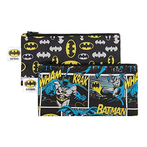 Bumkins Snack BagsDC Comics Reusable Washable Food Safe BPA Free 2Pack – Batman