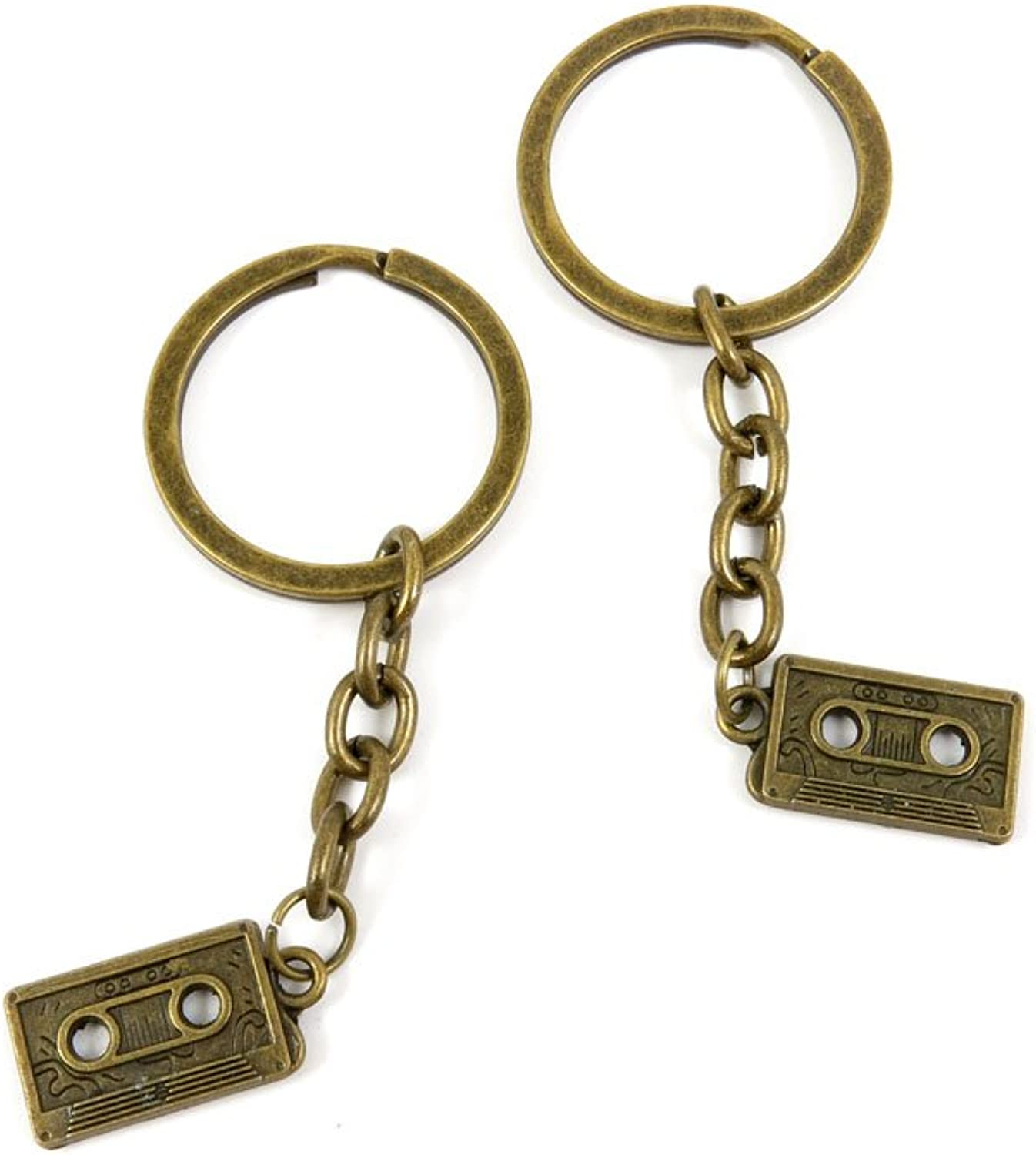 200 Pieces Fashion Jewelry Keyring Keychain Door Car Key Tag Ring Chain Supplier Supply Wholesale Bulk Lots C7UT7 Audio Cassette Tapes