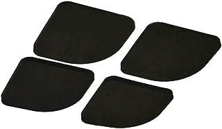 4PCS Svart EVA Multifunktionell tvättmaskin Anti-Shock Pads Non-Slip Kylskåp Mute Pad