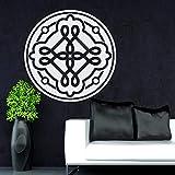 BailongXiao Etiqueta de la Pared de la Flor de la Mandala Moderna Etiqueta de la Pared del Vinilo Dormitorio Sala de Estar hogar DIY Arte Mural Logo Aerobic Studio decoración 57x57cm