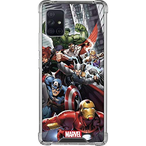 Skinit Clear Phone Case Compatible with Samsung Galaxy A51 5G - Officially Licensed Marvel Avengers Team Power Up Design